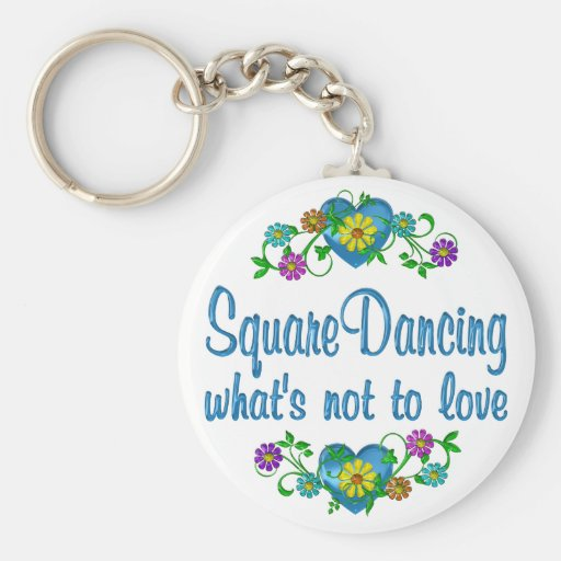 Square Dancing to Love Key Chain