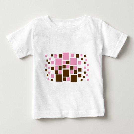 Square Design Art Brown / Pink Baby T-Shirt