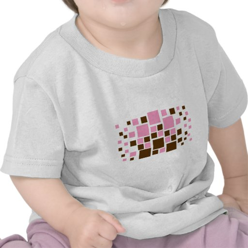 Square Design Art Brown / Pink Shirts
