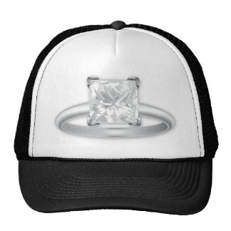 Square Diamond Ring Trucker Hat