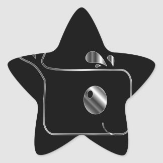 Square dolphin star sticker
