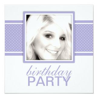 Square Dots Birthday Party Invitations