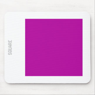 Square - Dp Violet and White Mouse Pad