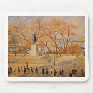 Square du Vert Galant, Sunny Morning Mouse Pad