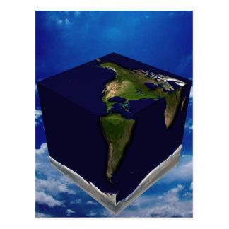 Square Earth Postcard