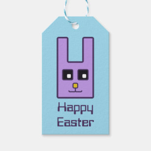 Easter bunny gift tags zazzle square easter bunny gift tags negle Image collections