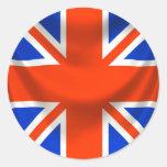 square english flag classic round sticker