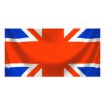 square english flag photo card