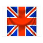 square english flag postcard