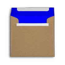 Square Envelope Gold/Royal Blue