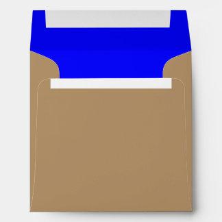 Square Envelope Gold/Royal Blue