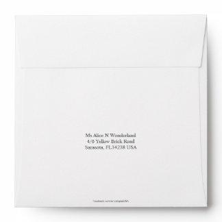 Square Envelope White Return Address