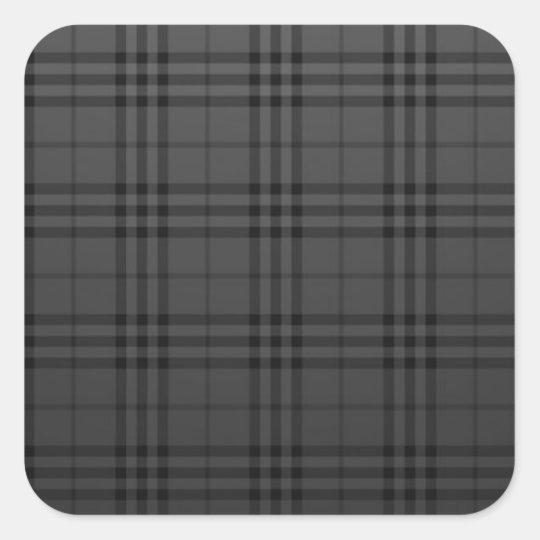 Square Fabric Square Sticker
