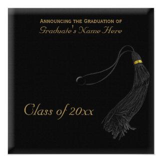 Square Faux Mortarboard Graduation Card