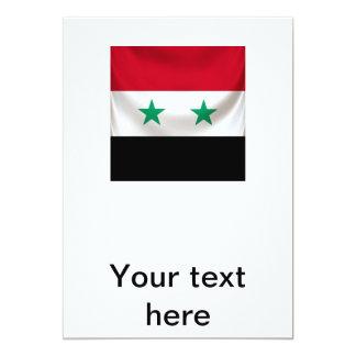 Square flag of Syria, ceremonial draped Card