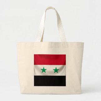 Square flag of Syria, ceremonial draped Large Tote Bag
