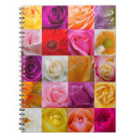 Square Flower Collage - Spiral Notebook