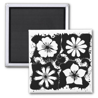 square flowers 2 inch square magnet