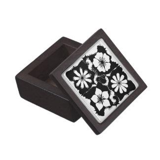 square flowers jewelry box