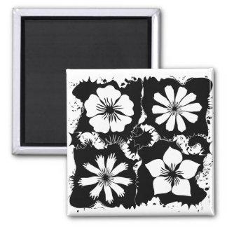 square flowers fridge magnets