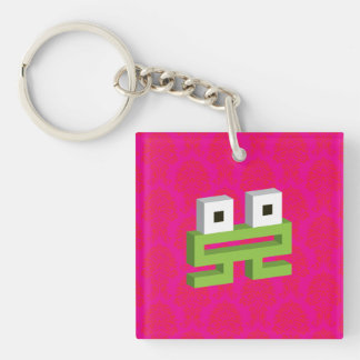 Square frog keychain