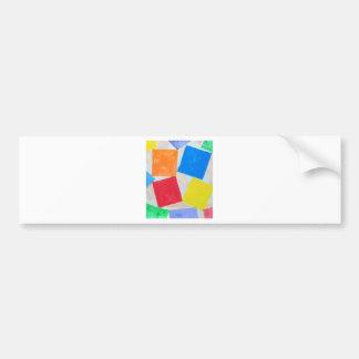 Square Gathering ( geometric expressionism ) Bumper Sticker