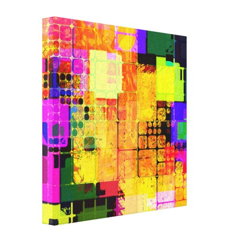 Square Geometric Multicolored Abstract wall decor