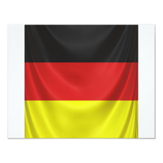 square german flag draped card