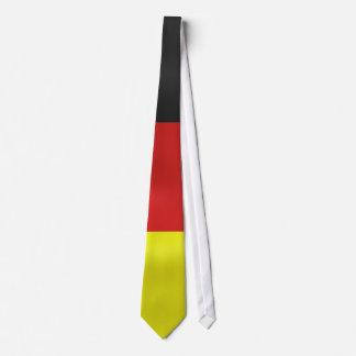 square german flag draped neck tie