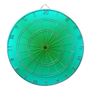 Square Gradient - Cyan and Green Dart Boards