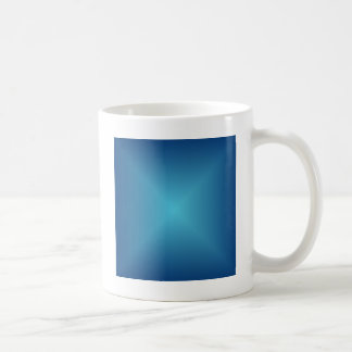 Square Gradient - Dark Blue and Light Blue Coffee Mug