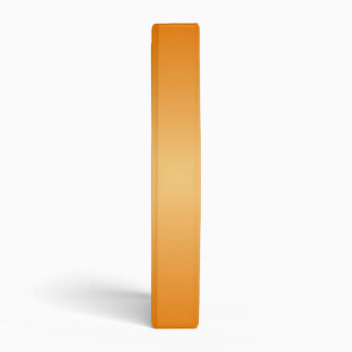 Square Gradient - Dark Orange and Light Orange 3 Ring Binder