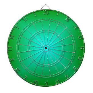 Square Gradient - Green and Cyan Dart Board