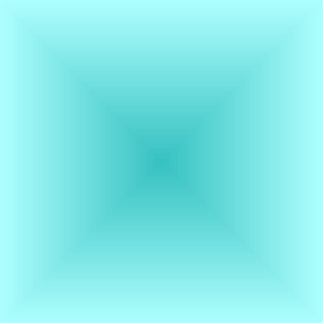 Square Gradient - Light Cyan and Turquoise Cutout