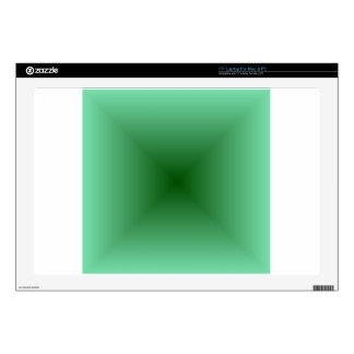 Square Gradient - Light Green and Dark Green Laptop Skins