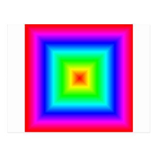 Square Gradient - Rainbow Postcard