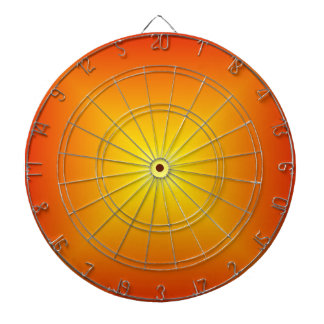 Square Gradient - Red to Yellow Dartboards