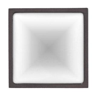 Square Gradient - White and Gray Jewelry Box