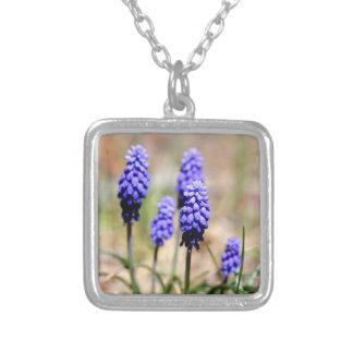 Square Grape Hyacinth Necklace