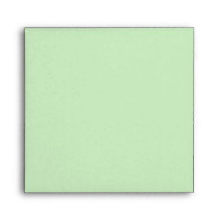 Square Green Polka Dot Flower Pastel Envelopes