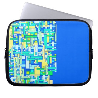 Square Grid 10 Inch Laptop Sleeve