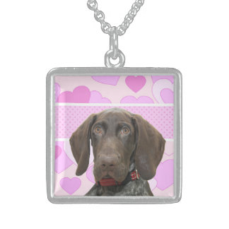square    grizzly girlspink3.jpg square pendant necklace