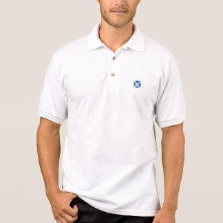 Square Grunge Scottish Flag Polo Shirt