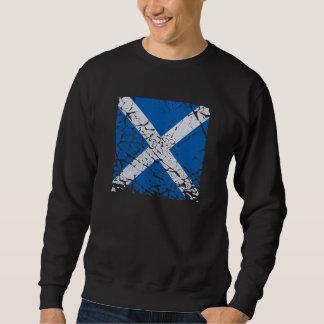 Square Grunge Scottish Flag Sweatshirt