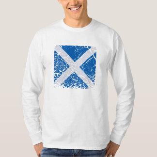 Square Grunge Scottish Flag T-Shirt