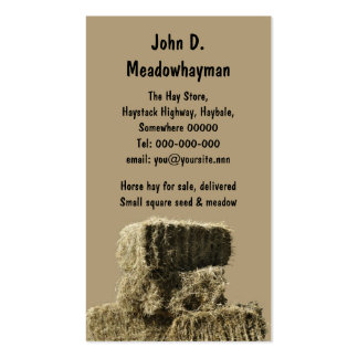 Square hay bales business card