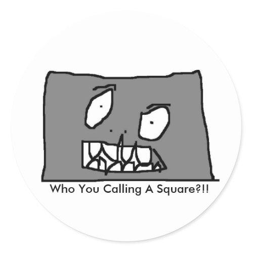 Square Headed Monster Thing Sticker sticker