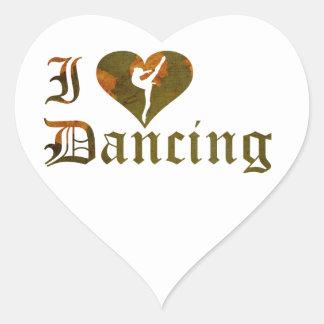 Square heart Gymnastics Dance Cheer Stickers