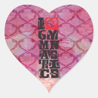 Square heart Gymnastics Dance Cheer Stickers Heart Sticker