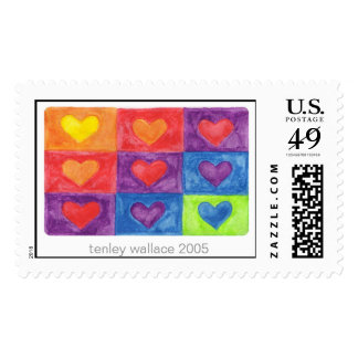 square hearts stamp